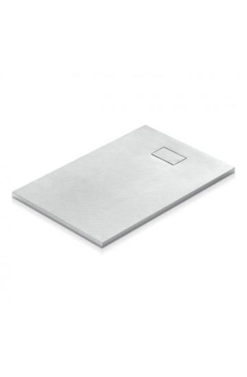 Piatto doccia effetto pietra colore bianco 80x120 sagomabile Stone Essence Slim