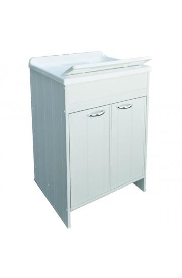Mobile lavanderia con pilozza lavapanni 1 Anta  con tavola 45x60 in PVC - Frata Selection VARUS