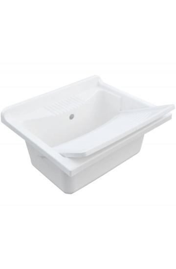 Lavatoio Lavapanni con Pilozza 60x50 cm e tavola in propilene - Dianhydro