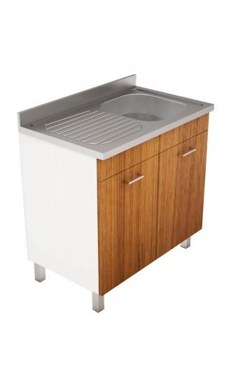 Mobile Con Lavello Cucina.Mobile Cucina Con Lavello In Acciaio Inox 120x50cm Pratika