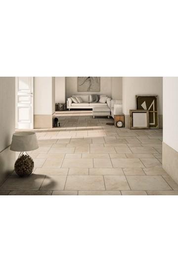 Pavimento per interni pietra di Lecce colore avorio in gres porcellanato 30x50 - Ermes Aurelia