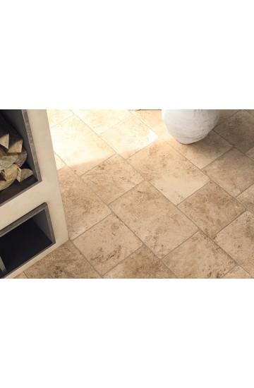 Pavimento per interni pietra di Lecce colore ambra in gres porcellanato 30x30 - Ermes Aurelia