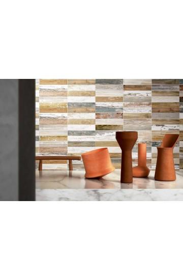 Rivestimento 25x75 Clay Decoro Wood Bruno Ermes