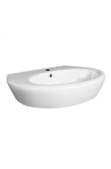 Linpha Klio Lavabo in ceramica bianca da 68 cm -181-k100