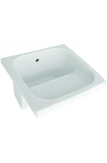 Solo Lavatoio Lavapanni in ceramica 60x60 cm con strizzatoio -Frata Selection