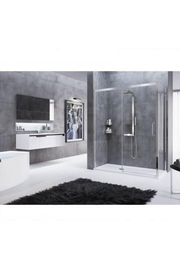 Porta doccia in nicchia 1 anta scorrevole e 1 fissa SX Rose Rosse Novellini 114-120