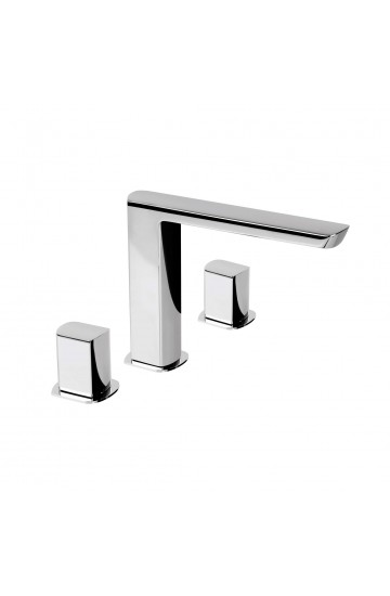 Palazzani MIS - Miscelatore lavabo 3 fori con piletta click clack