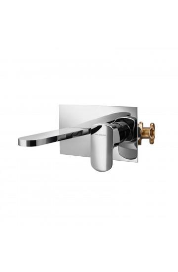 Palazzani MIS - Miscelatore monocomando per lavabo a incasso a canna laterale