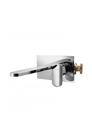 Palazzani MIS - Miscelatore monocomando per lavabo a incasso a canna laterale prolungata