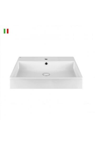Lavabo appoggio Gessi Emporio Quadrato da 60 cm