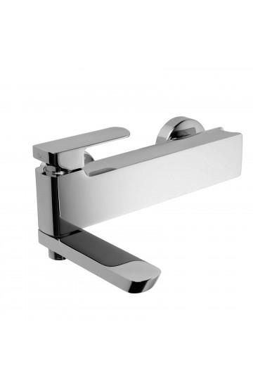 Palazzani MIS - Miscelatore monocomando per vasca con bocca-deviatore con supporto doccia integrato
