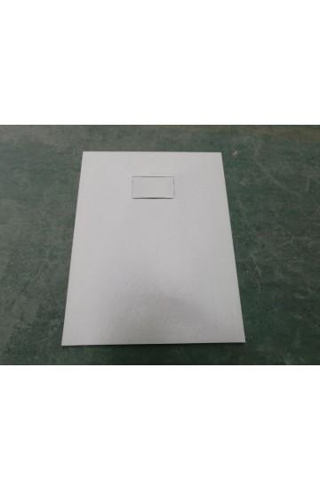 Piatto doccia effetto pietra colore bianco 70x100 sagomabile Stone Essence Slim