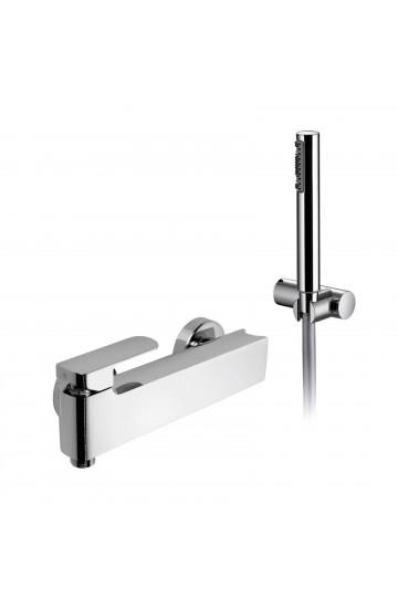Palazzani MIS - Miscelatore monocomando per doccia con supporto doccia integrato e doccetta