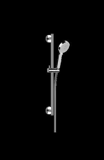 Asta Saliscendi  Cromo con Doccetta Anticalcare Tre Getti e Flessibile 150 cm - Gessi Emporio Shower