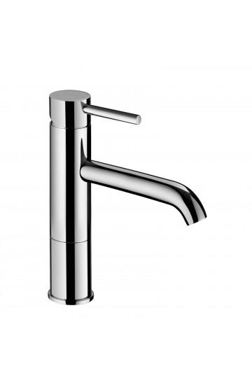 Miscelatore lavabo midi con bocca prolungata e scarico da 1 1/4 Idrotech Palazzani