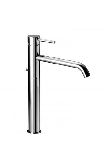 """Miscelatore lavabo alto con bocca prolungata e scarico da 1""""1/4 Idrotech Palazzani"""