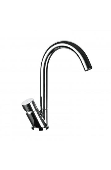 Miscelatore lavabo con bocca girevole e piletta di scarico click clack Idrotech Palazzani