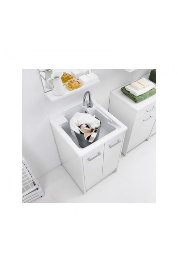 Lavapanni Colavene Domestica Tela Bianco 50x45x86  dotato di vasca in ABS lucido- DL5045B