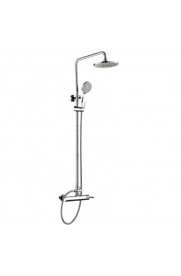 Set colonna doccia con miscelatore in acciaio inox cromato - Chiara