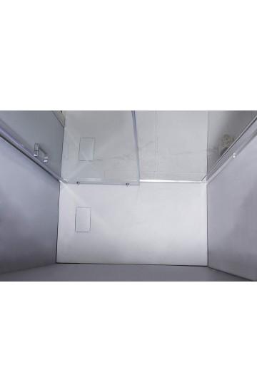 Piatto doccia effetto pietra colore bianco 80x160 sagomabile Stone Essence Slim