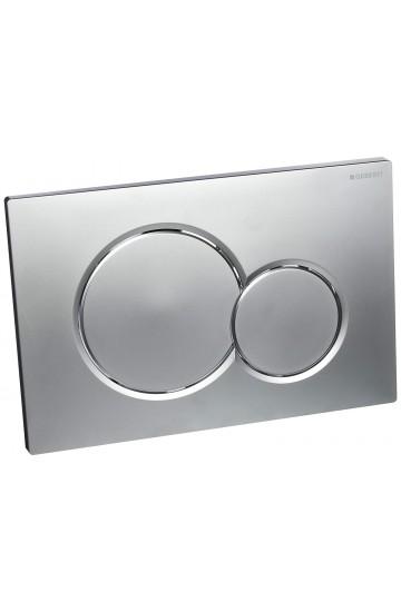 Placca di comando bianca/cromo a due pulsanti Geberit Sigma01 115.770.KA.5