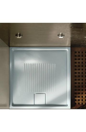 Piatto doccia in ceramica 90x90 H 6 cm LIF ST HATRIA
