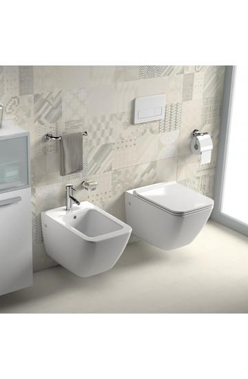 Sanitari sospesi wc vaso + bidet ceramica bianco JIKA by Laufen CUBITO PURE - sedile standard incluso