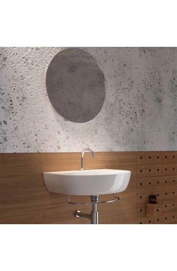 Lavabo sospeso in ceramica bianco 64x45 Mascalzone Domus Falerii