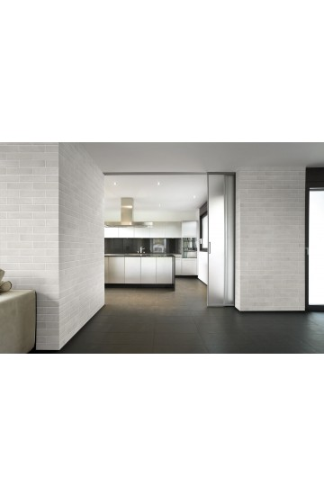 Rivestimento effetto muretto in Gres Porcellanato colore Bianco Manhattan 7,4x31 - Cotto Petrus BrickOne