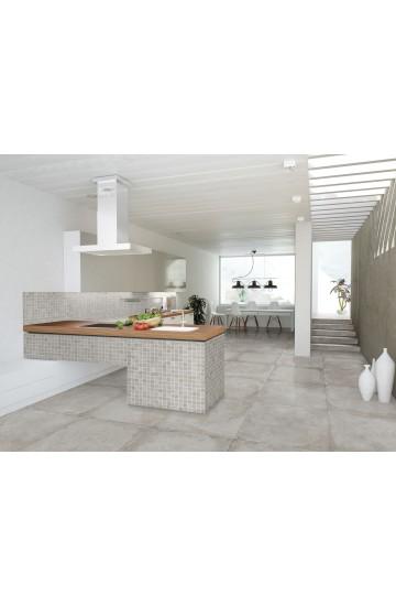 Pavimento in Gres Porcellanato effetto Cemento colore Ferro 60x60 - Cotto Petrus Concept Stone