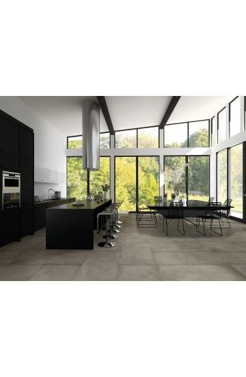 Pavimento in Gres Porcellanato effetto Cemento colore Ghisa 60x60 - Cotto Petrus Concept Stone