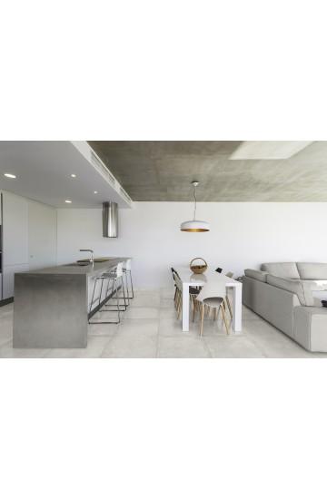 Pavimento in Gres Porcellanato effetto Cemento colore Neve 60x60 - Cotto Petrus Concept Stone