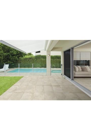 Pavimento da esterno in Gres Porcellanato effetto Cemento colore Corda 31x62 - Cotto Petrus Concept Stone OUT