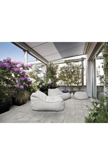 Pavimento da esterno in Gres Porcellanato effetto Cemento colore Ferro 31x62 - Cotto Petrus Concept Stone OUT