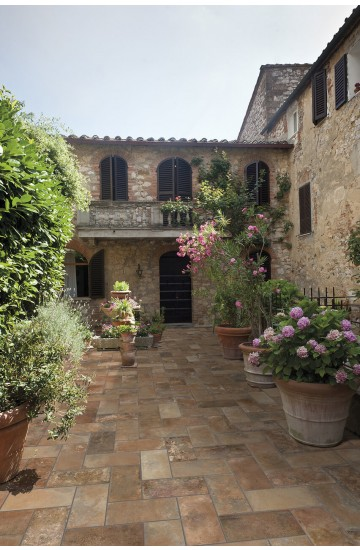 Pavimento per esterni in gres porcellanato Vecchia Firenze 15,3x31 - Cotto Petrus TavellOne OUT