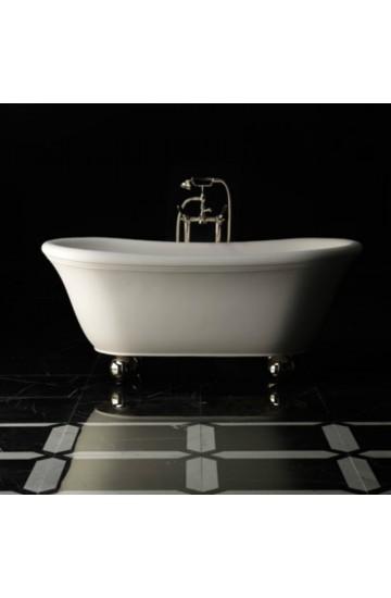 Vasca centro stanza DEVON&DEVON AURORA BIJOUX con rubinetteria vasca da terra