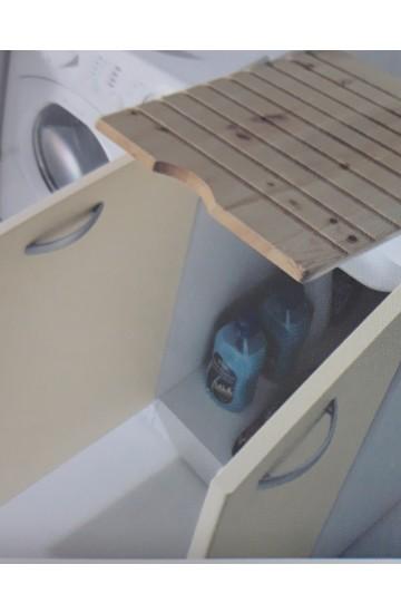 Mobile lavanderia Sfera 2  con resistente pilozza lavapanni 60x60colore Avana - MOBIL10