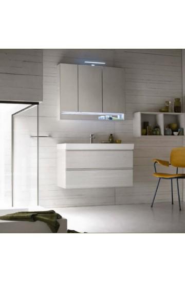 Composizione completa di base porta lavabo e specchio COMPAB BGO 107