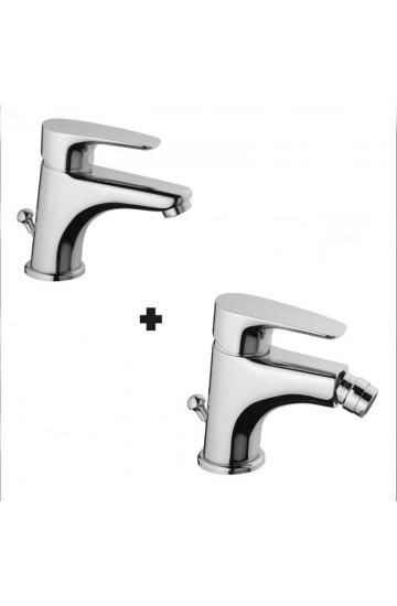 Rubinetti miscelatori bagno per lavabo e bidet Paini Smart  con salterello e scarico automatico
