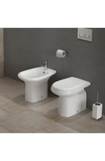 Coppia di sanitari con fissaggio a pavimento (vaso, bidet e coprivaso) - RAK Orient/Ninfea