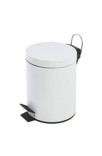 Pattumiera a pedale in acciaio colore bianco capacità 3 Litri