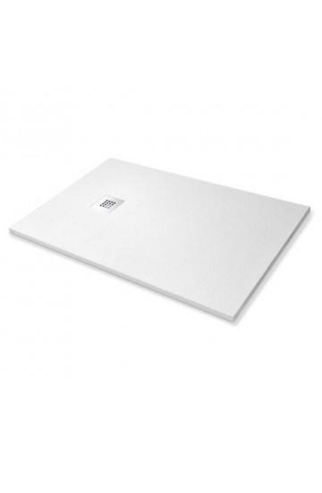 Piatto doccia simil stone colore bianco 80x140 sagomabile (con piletta di scarico inclusa)