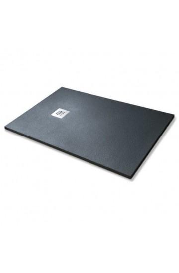 Piatto doccia similstone colore nero 80x100 sagomabile (con piletta di scarico inclusa)
