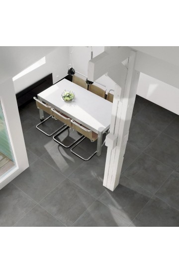 Pavimento in Gres Porcellanato Antracite effetto Cemento 60x60 - Cotto Petrus Emotion Anthracite