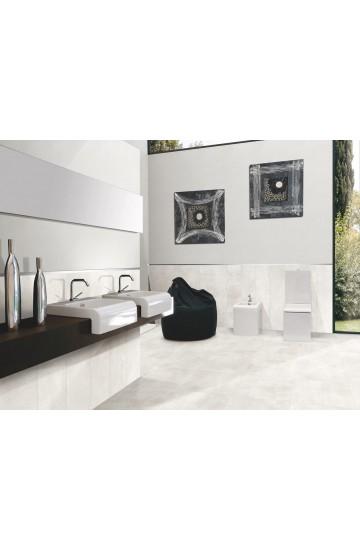 Pavimento in Gres Porcellanato Bianco effetto Cemento 60x60 - Cotto Petrus Emotion Blanc