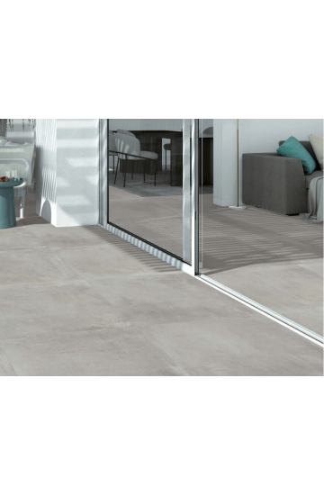 Pavimento in Gres Porcellanato Grigio effetto Cemento 60x60 - Cotto Petrus Emotion Gris