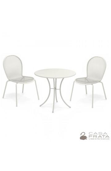 EMU PIGALLE – Set composto da tavolo tondo + due sedie Ronda