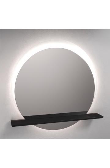 Specchio a Filo lucido Rotondo Retroilluminato Led con Mensola Verniciata - Etrusca 4896