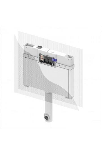 TECEbox cassetta di scarico da incasso, profondità 8 cm, per parete in muratura