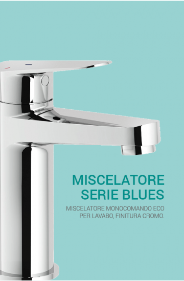 Miscelatore lavabo NOBILI BLUES con scarico energy saving